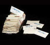 Business card plastic pages folded pockets sleeves sheet plastic business card holders and rolodex cards reheart Gallery